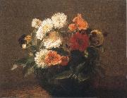 Henri Fantin-Latour Flowers in an Earthenware Vase oil painting picture wholesale